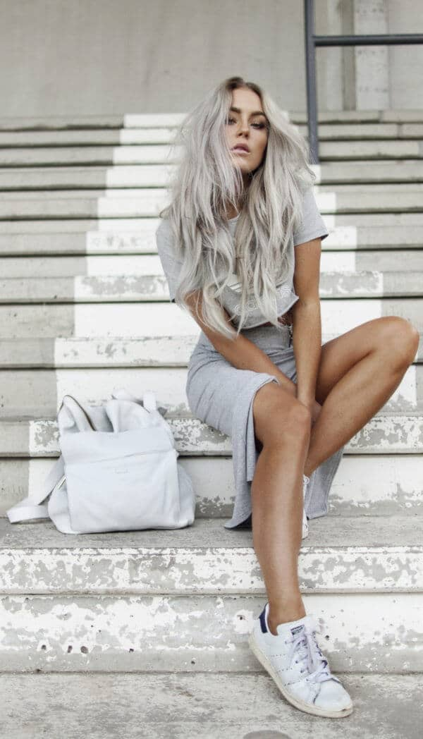 Sleek In A Grey Two Piece