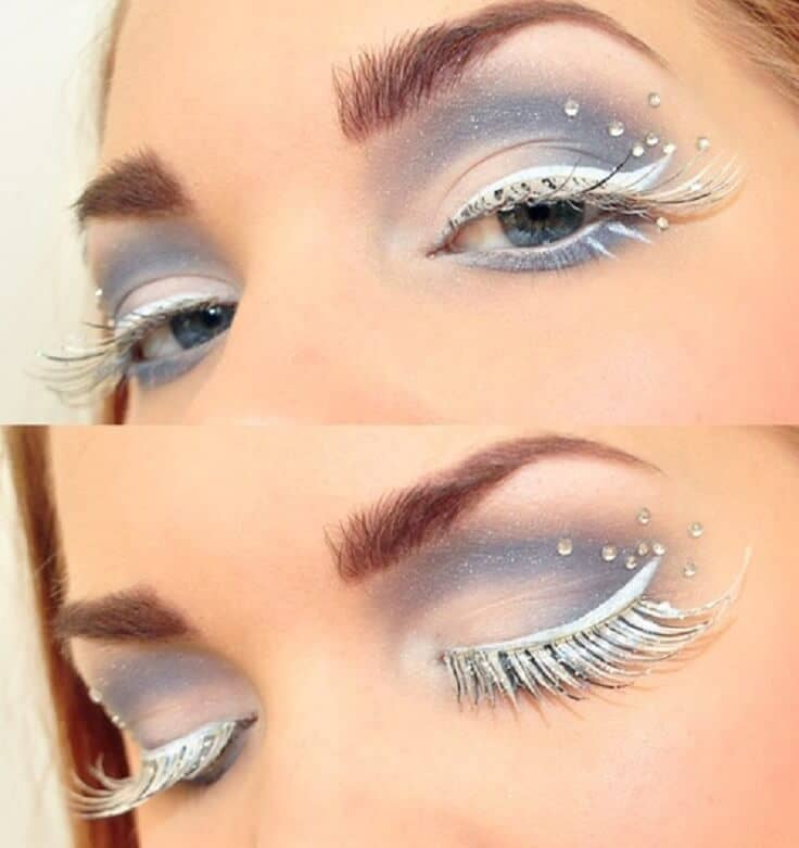 Shimmery Ice Princess Eye Look