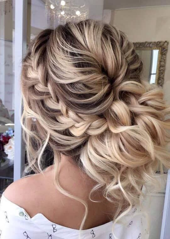 Loose Chignon With Side Braid
