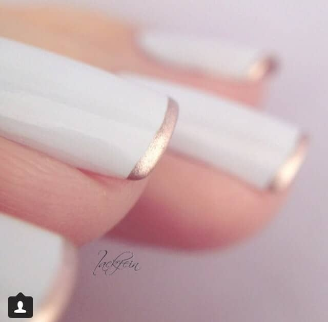 Ivory With Ultra-thin Gold French Tips