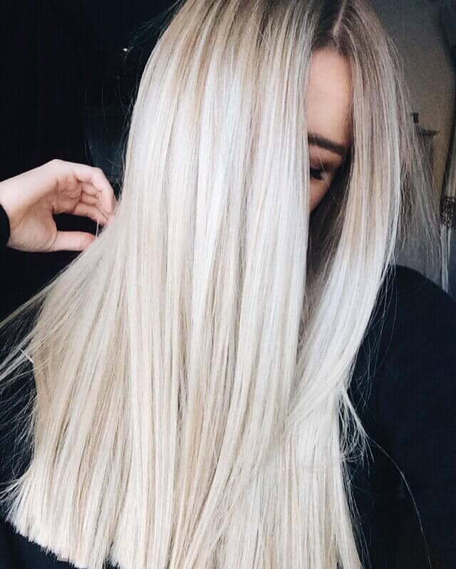 Straight Ice Blonde Haircolors