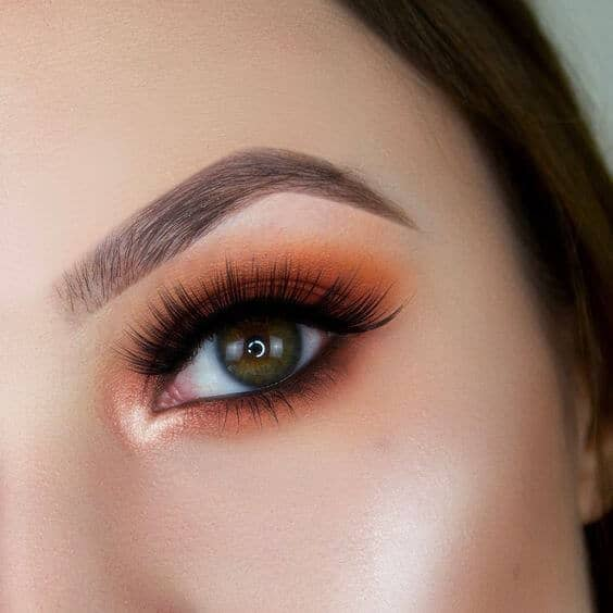 Bright Orange Eye Shadow Look