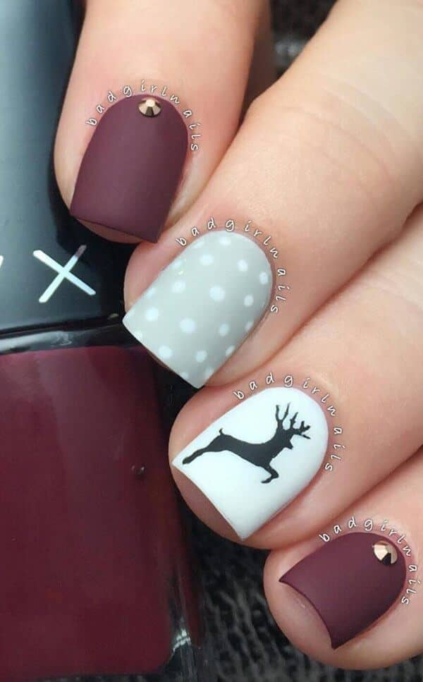 Matte Cranberry, White, And Gray