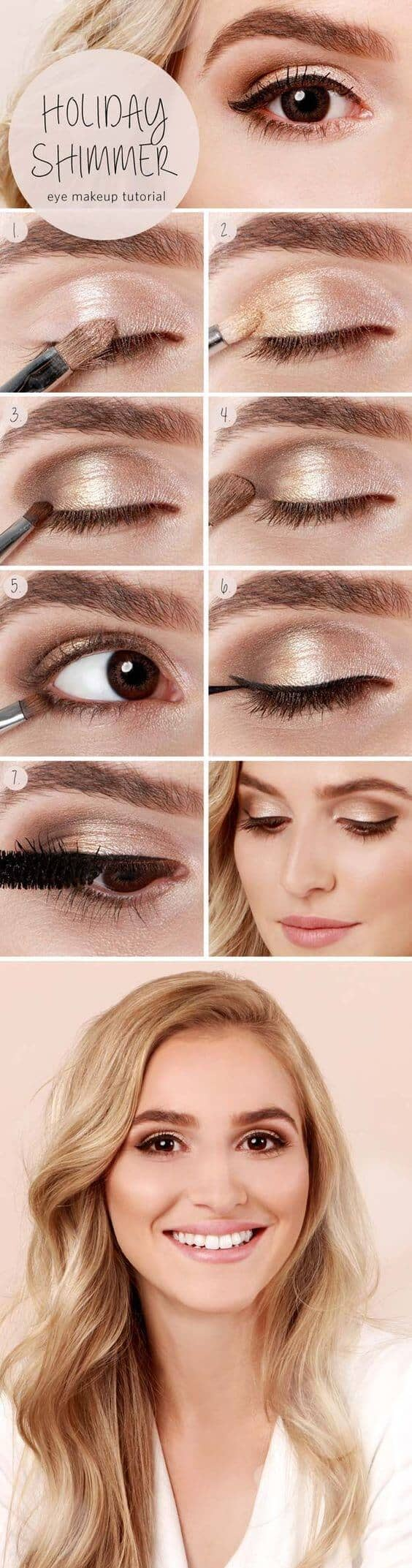 Easy Holiday Shimmer Eye Look