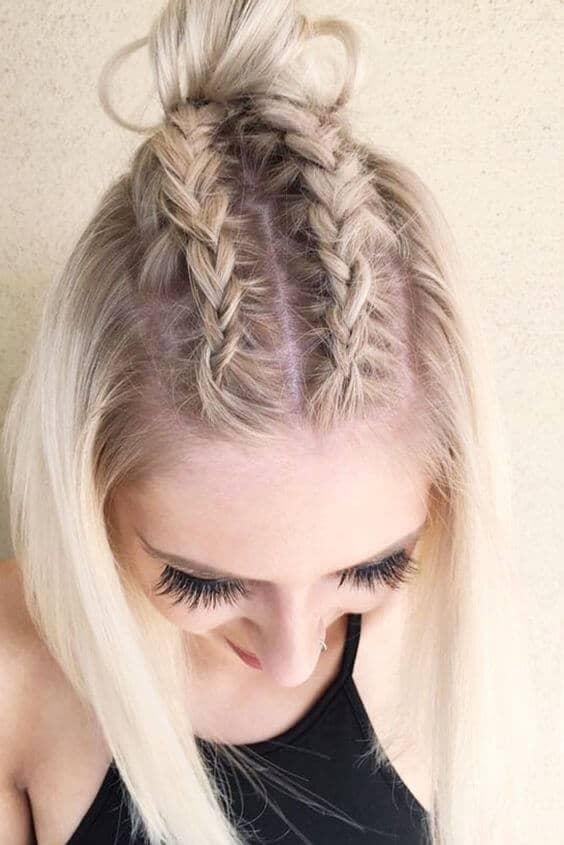 Cornrow Braid Hairstyle For Short Hair