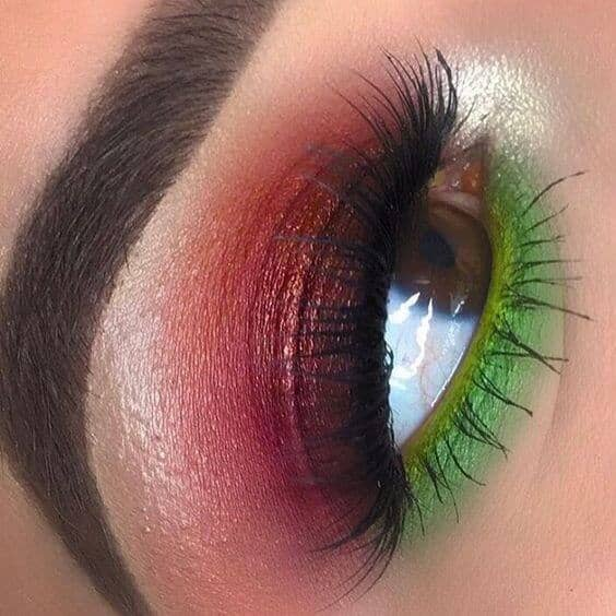 Red and Green Christmas Eyes