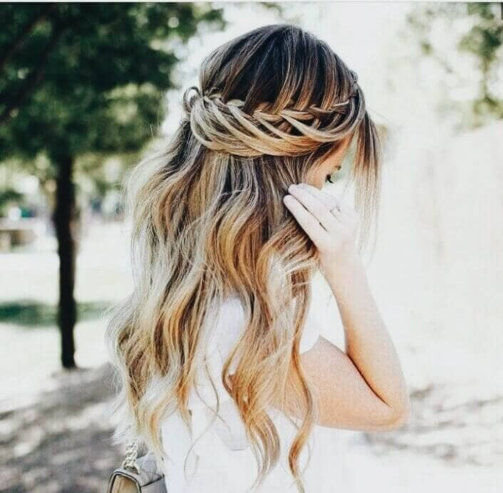 Lobster Tail Waterfall Braid