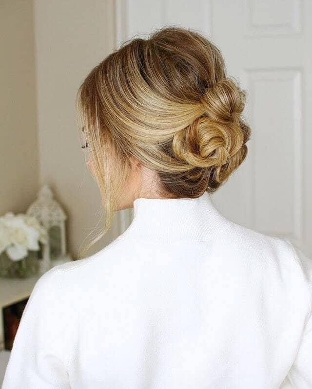 Low Knotted Christmas Hairstyle