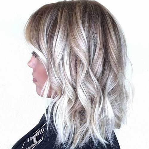 Silver Blonde Loose Curls