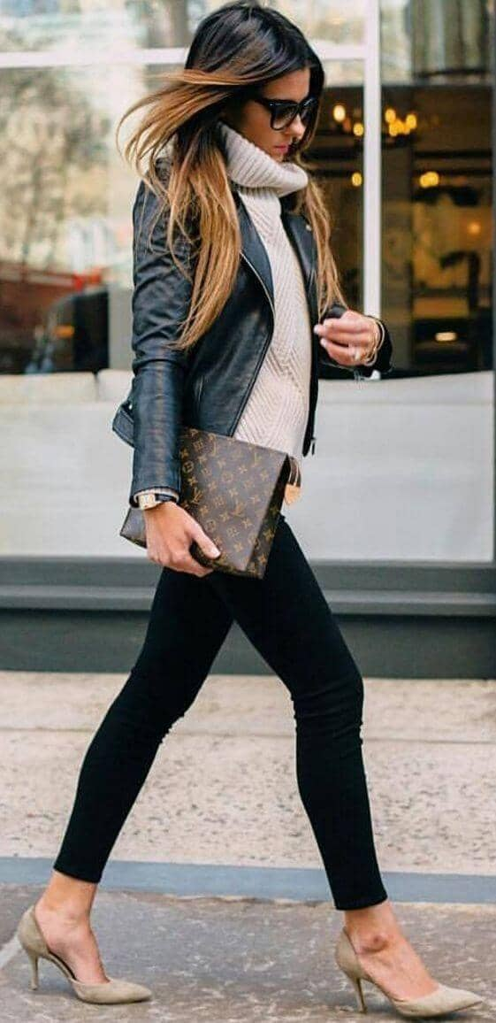 Rocking Leather with Natty Neutrals