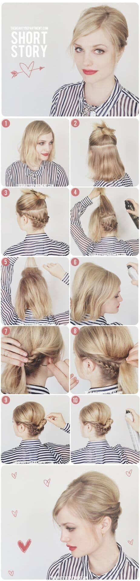 Updo With Braided Details