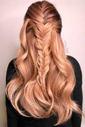 Cascading Fishtail Christmas Hairstyle