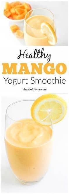 Cinnamon Mango and Yogurt Smoothie