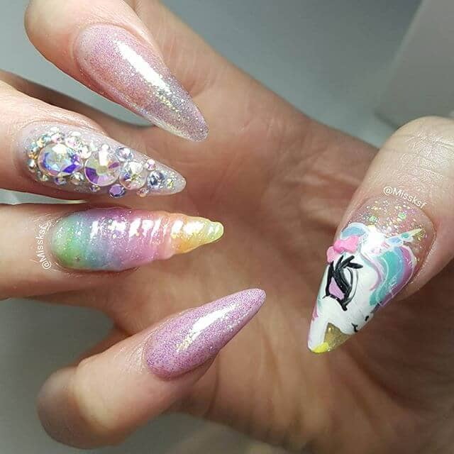 Glitter, Crystals, and a Unicorn Face