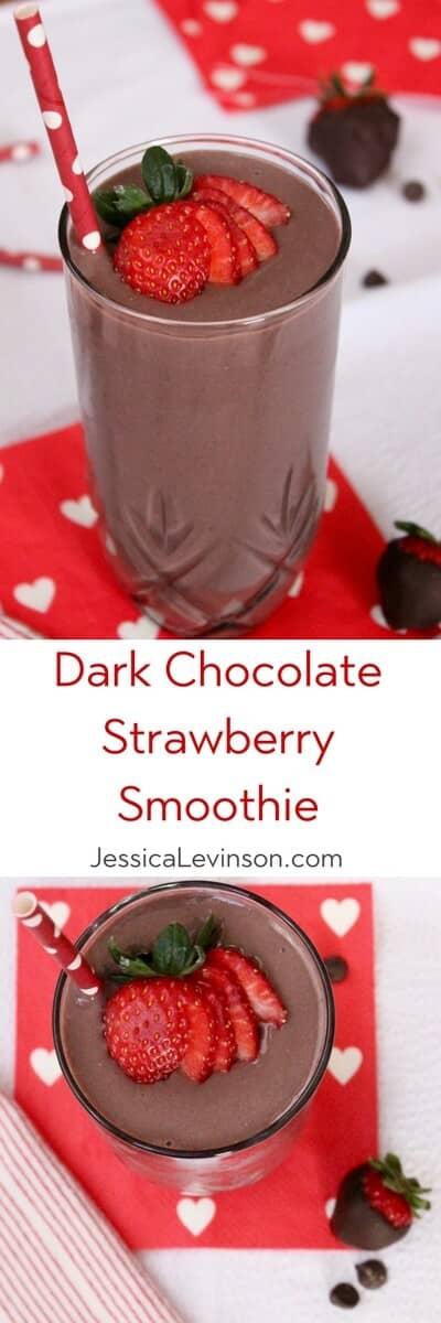 Dark Chocolate and Strawberry Smoothie