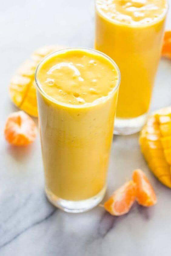Delicious Mango Orange Banana Smoothie