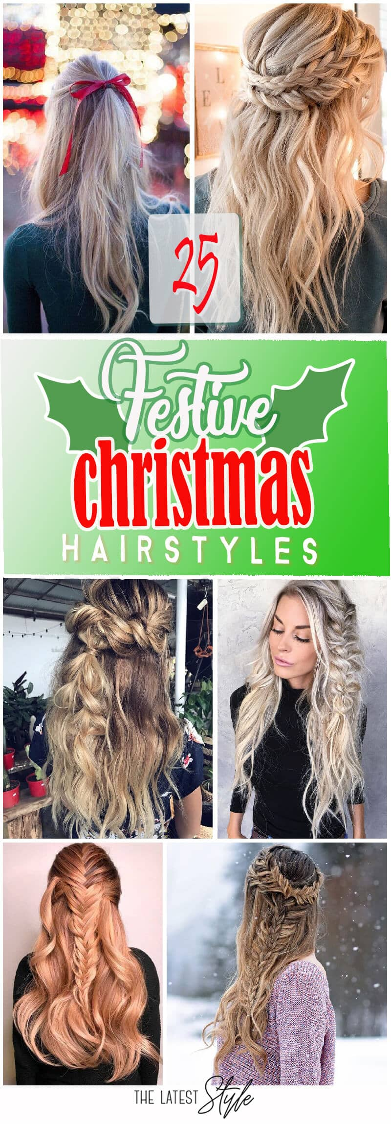 25 Festive & Fabulous Christmas Hairstyles