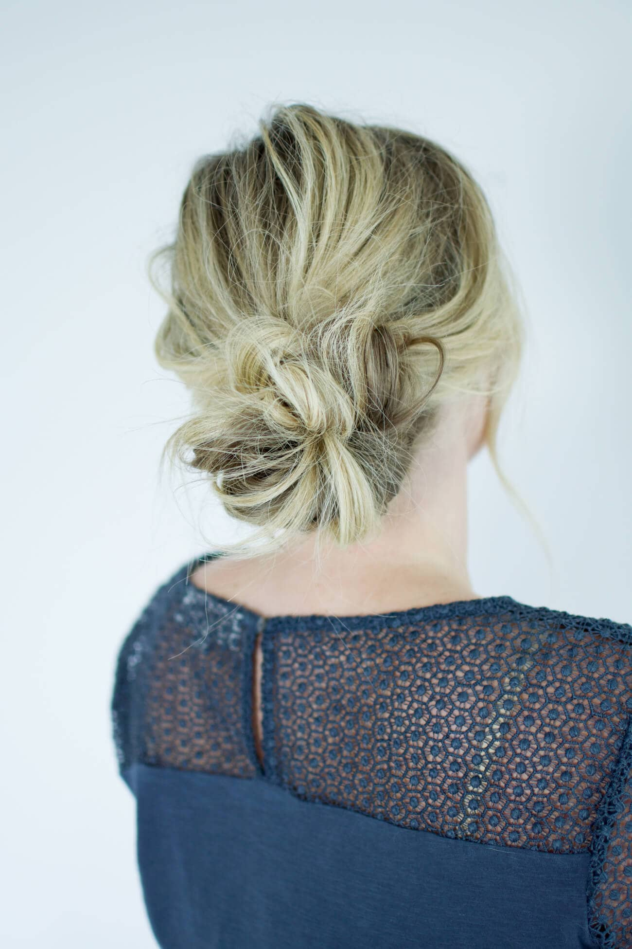 Low Tousled Sock Bun