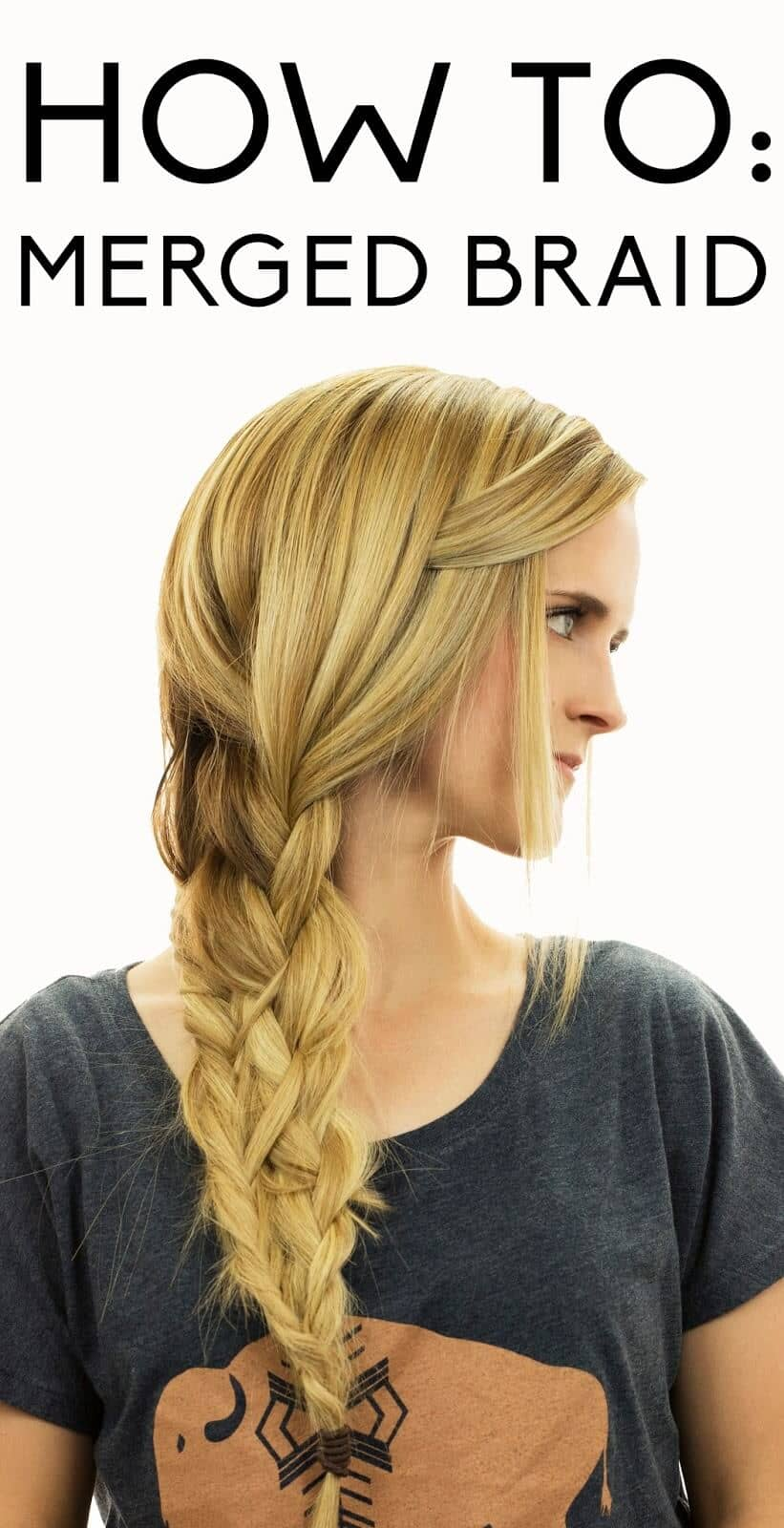 Sideswept Bangs with Combo Braid