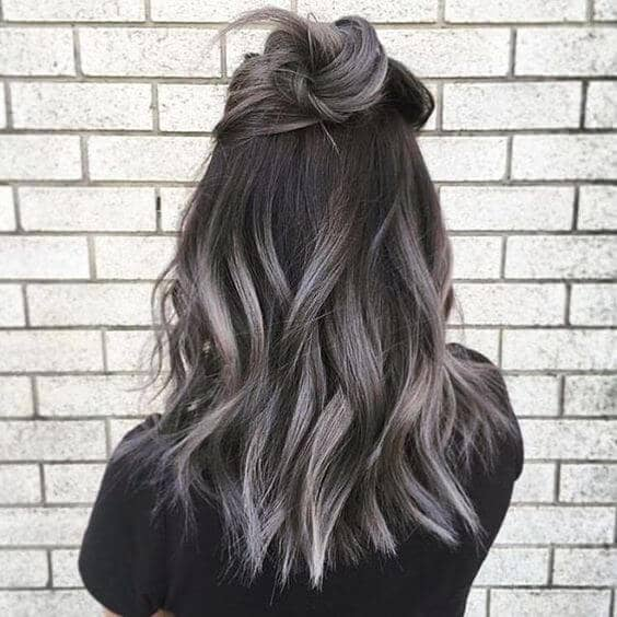 Black To Silver Balayage