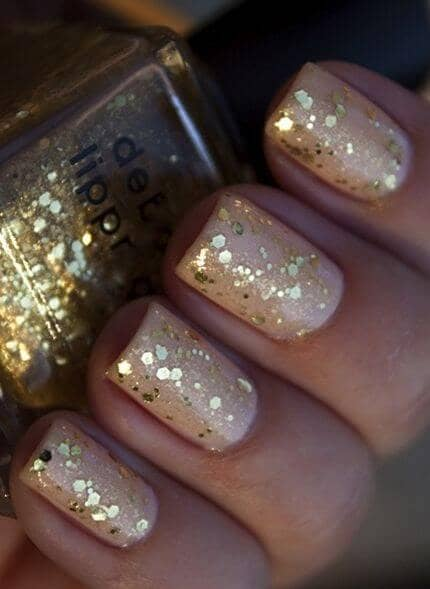 Nude New Years Eve Nails