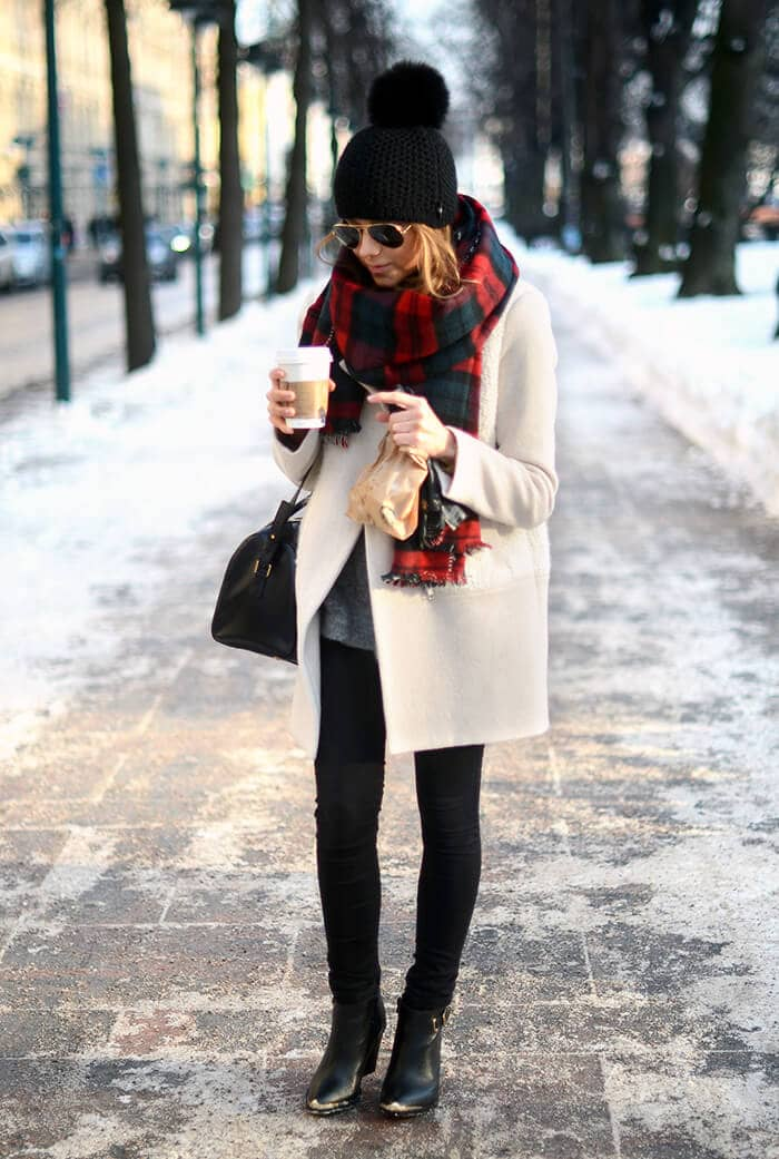 Tartan Plaid With Cream Coat