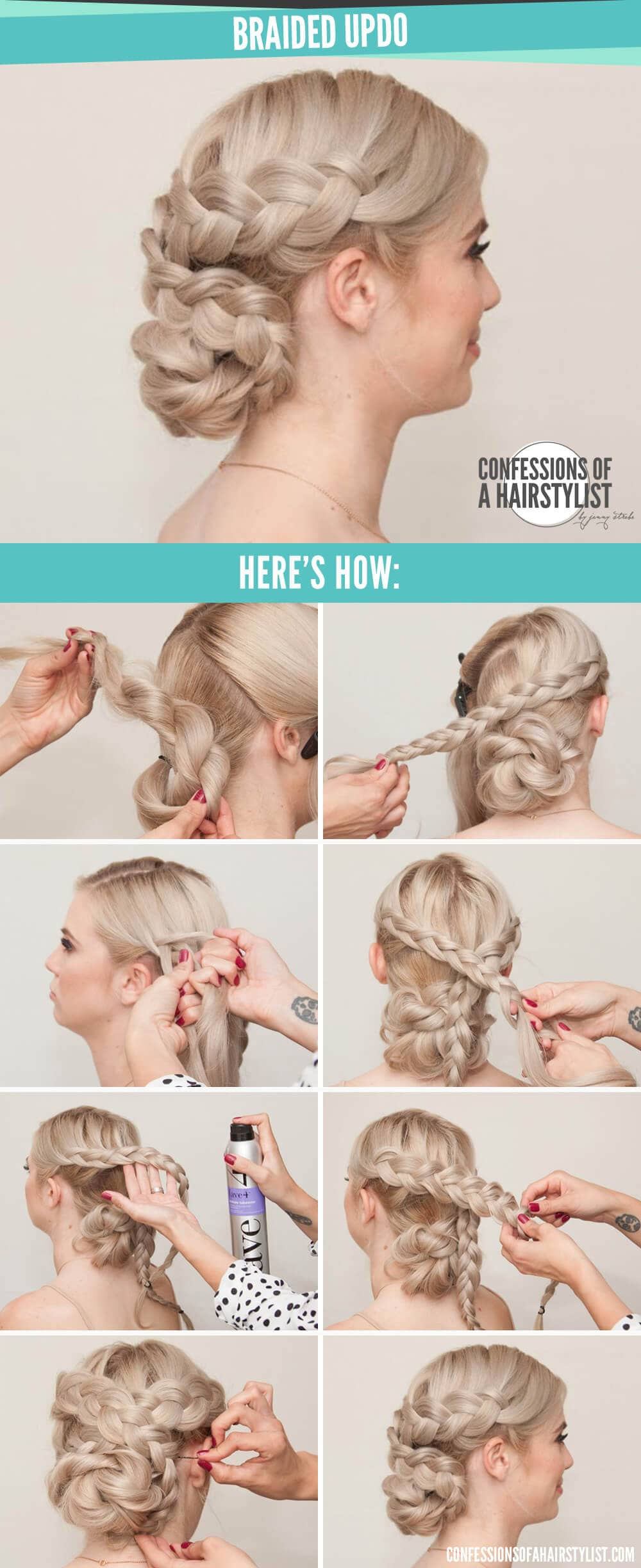 Criss-crossed Milkmaid Braid And Low Braid Bun