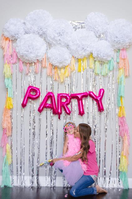 Rainbows, Streamers & Balloons Backdrop