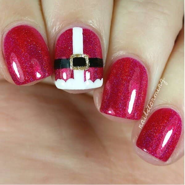 Santa Claus Is Coming to Your Nails