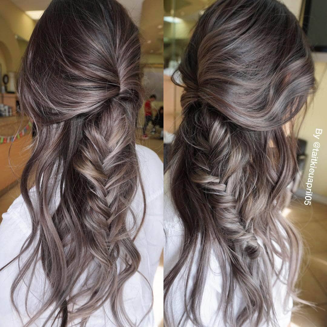 Brunette With Dense Silver Highlights