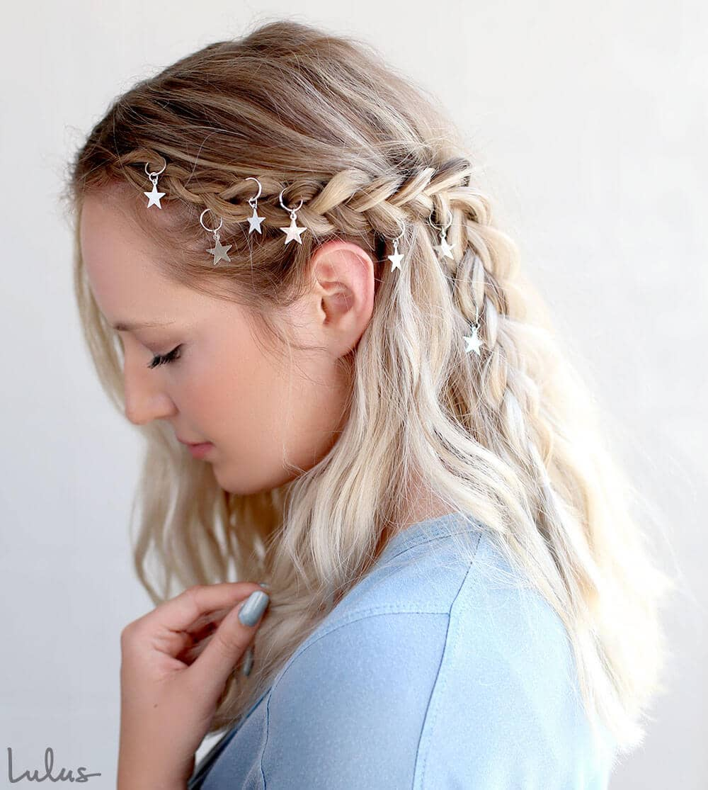 Half-Up Look with Hair Charms