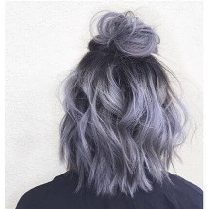 Purple And Silver Ombre Lob
