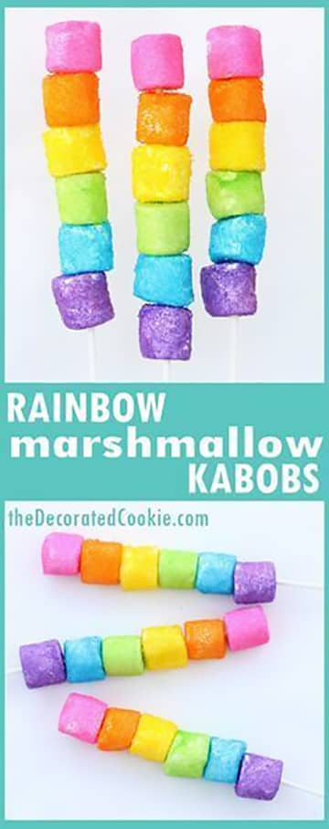 Rainbow Unicorn Kibble Lollies