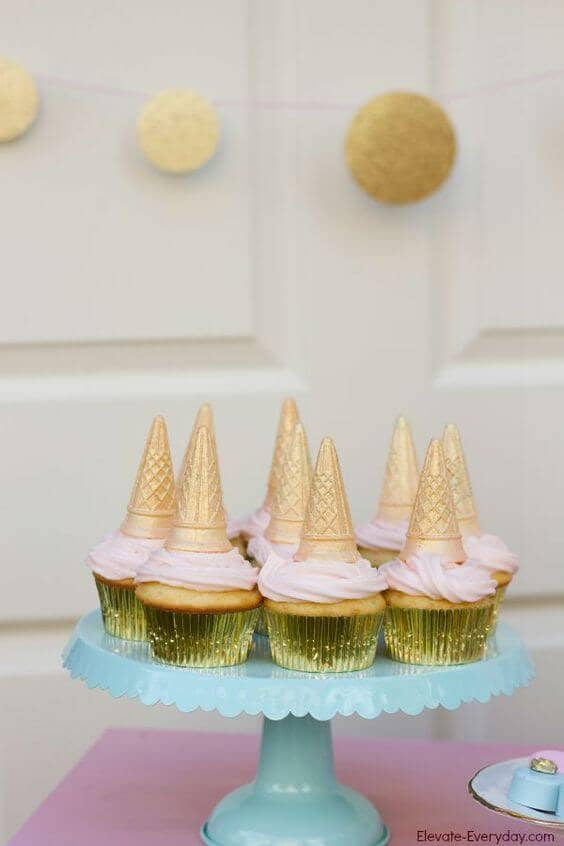 Wafer Cone Unicorn Cupcakes