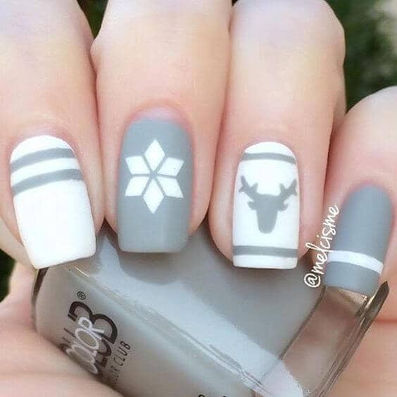 Neutral Gray and White Silhouettes