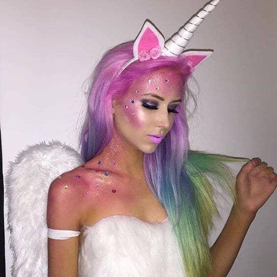 H2T Unicorn Costume & Makeup