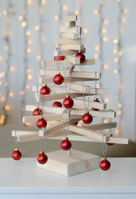 A Jenga-Inspired Christmas Tree