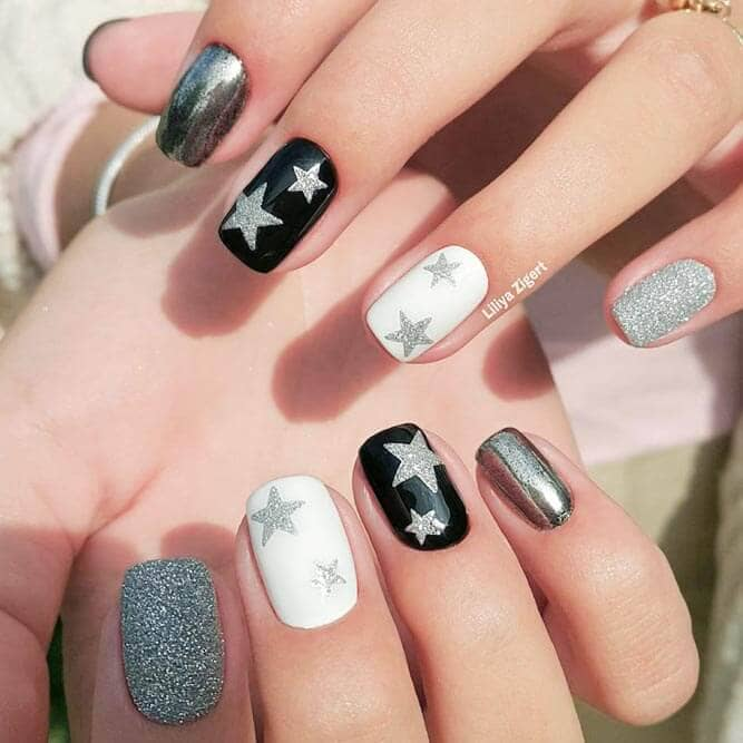Rock Star Holiday Nail Designs