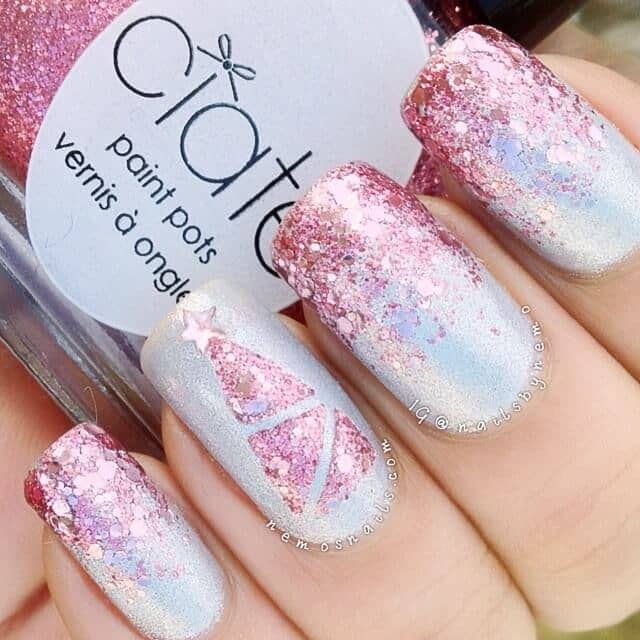 Pretty in Pink Sequin Polish