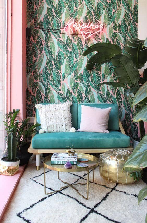 Kitschy Floridian Accent Wall