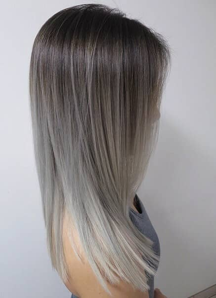 Brunette To Silver Ombre