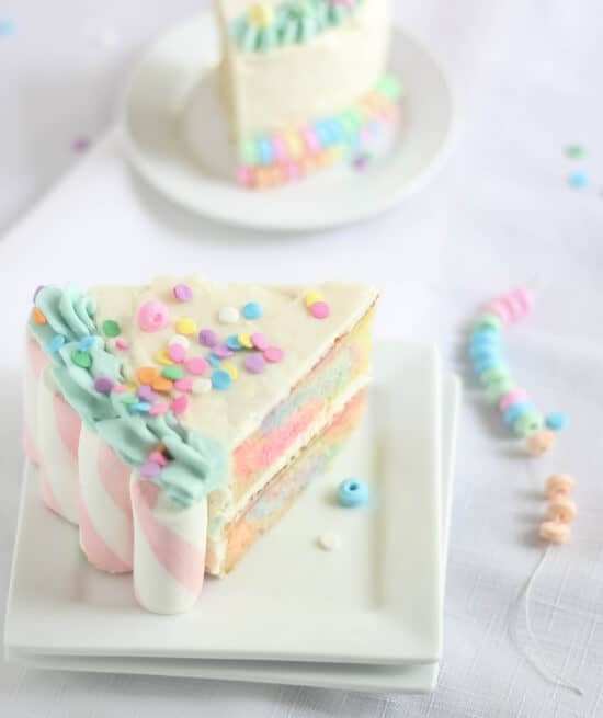 Candyland Double-Layer Rainbow Cake