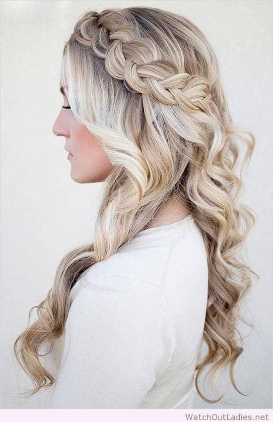 Whimsical Blonde Wedding Hair