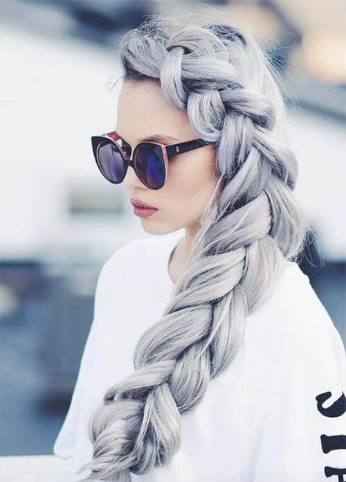 Lush Silver Voluminous Braid