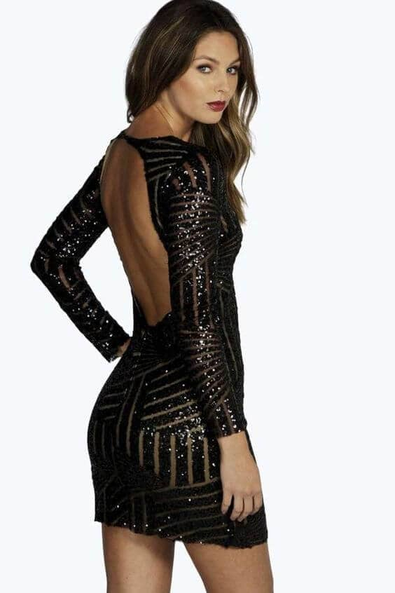 Black Beauty Body Skimming Frock