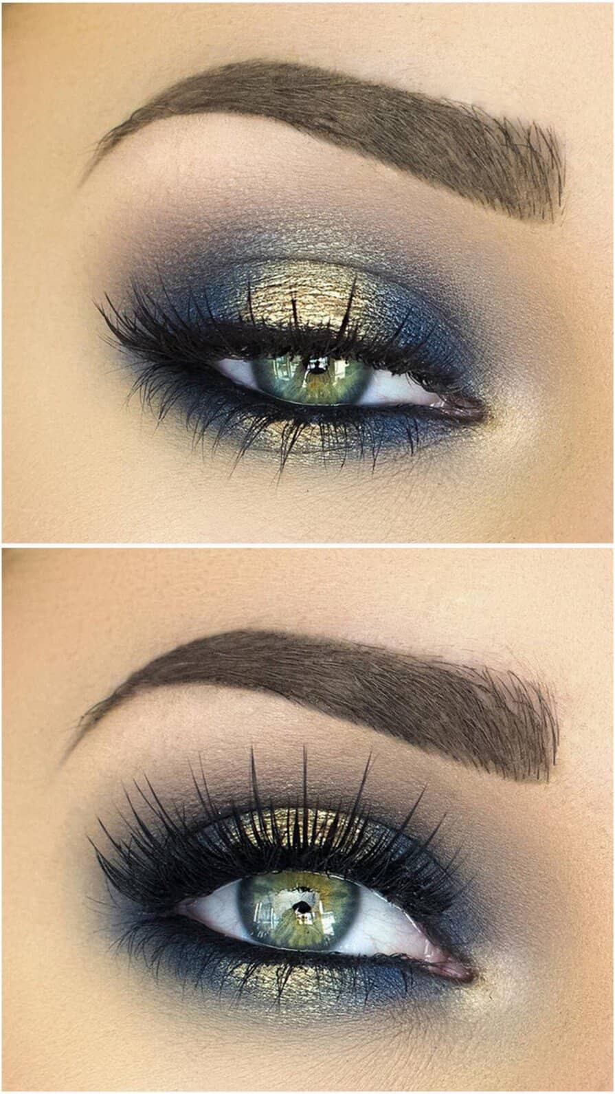 Gorgeous Gold on Indigo Eyelids