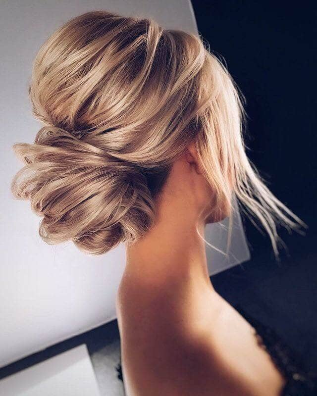 High Volume Crown With Loose Chignon