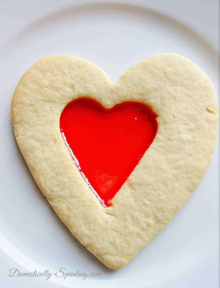 Cutout Jam Cookies for Valentine's Day