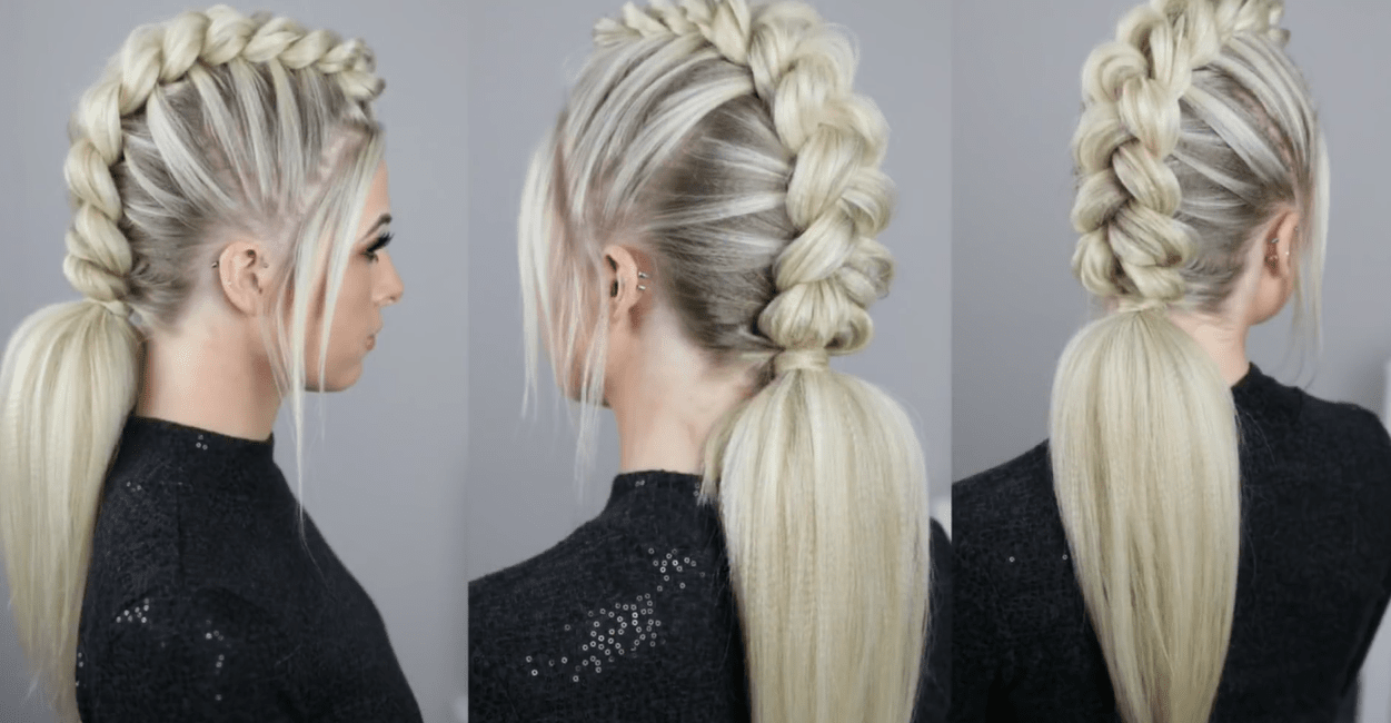 Half Braid With End Ponytail