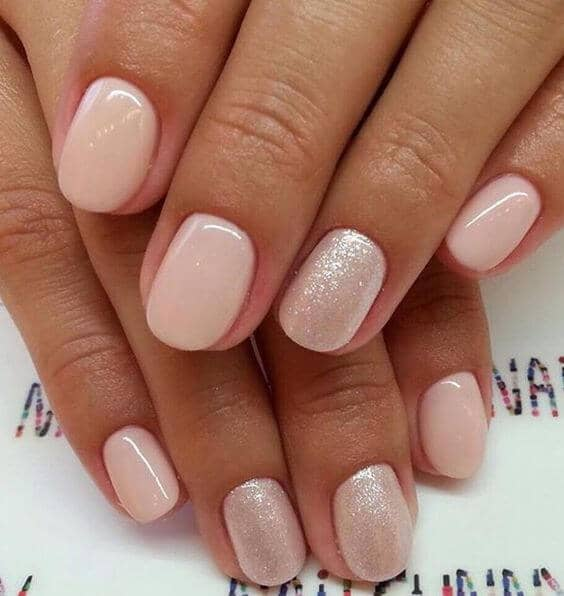 Nude with Pearl Accent